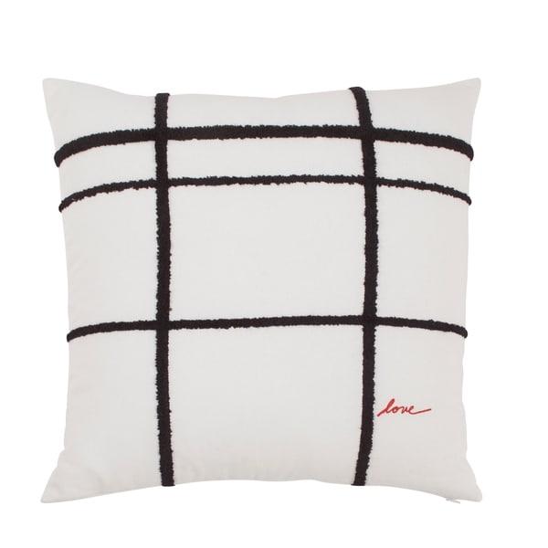 ED Ellen Degeneres Riad 24 Embroidered Plaid Square Pillow