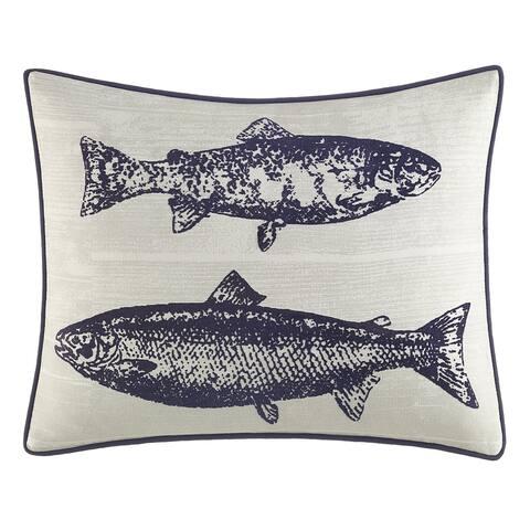 Eddie Bauer Salar Navy Decorative Throw Pillow