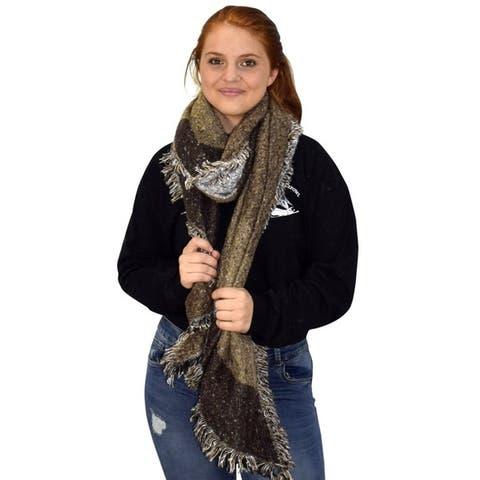 Plaid Tartan Oversize Oblong Cashmere Feel Oblong Blanket Scarves