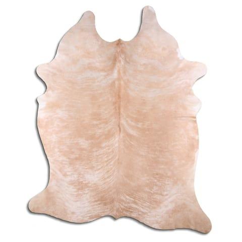light beige cowhide rug - L