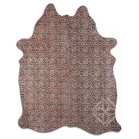 beige cowhide rug - L