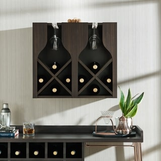 Furniture of America Aniya Rustic Wine Rack