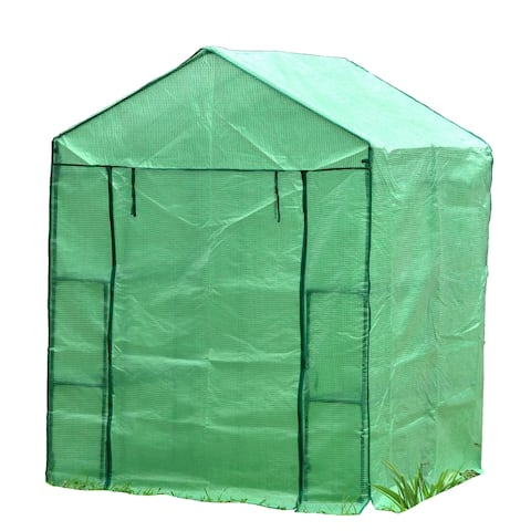 """Genesis 56"""" Wide Portable Walk In Greenhouse with Cover"""