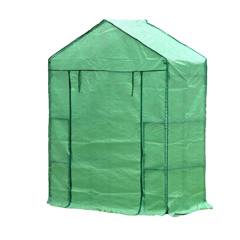 """Genesis 28"""" Wide Portable Walk In Greenhouse with Cover"""