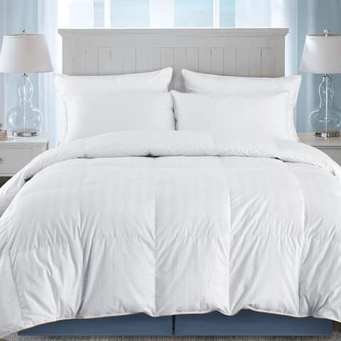 Ultra Premium Year Round Goose Down Comforter Duvet w/ 500 TC Cotton Cover