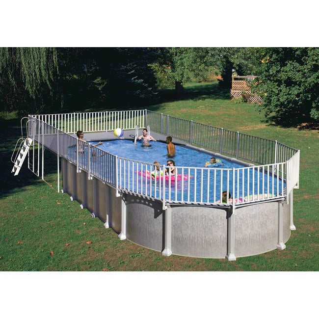 Above Ground End Deck For 15 X 30 Oval Pool Free Shipping Today 11204400