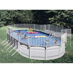 Shop Above Ground Poolside Deck For 15 X 30 Oval Pool
