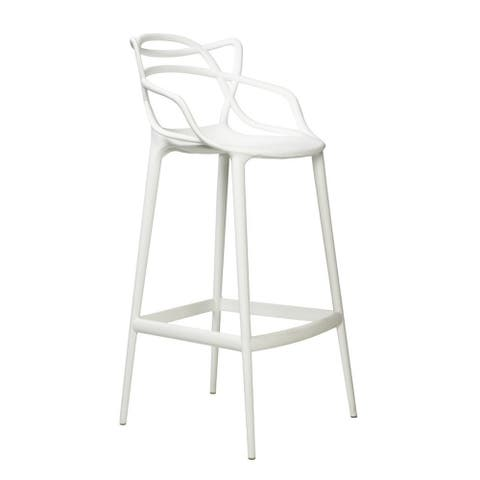 Trinity Contract Grade Polypropylene Molded Counter Stool