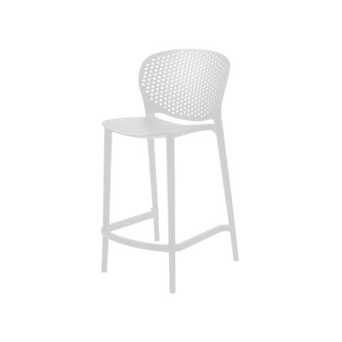 (Set of 2) Clyde Contract Grade Plastic Modern Counter Stool