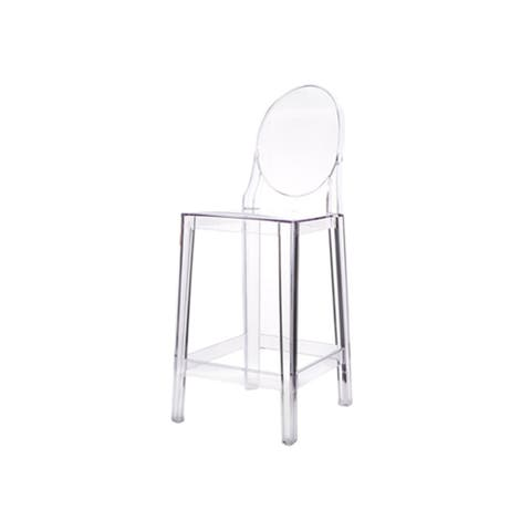 Casper Contract Grade Transparent Plastic Counter Stool
