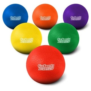 "GoSports 8.5"" Soft Touch Playground Ball (Set of 6) with Carry Bag and Pump"