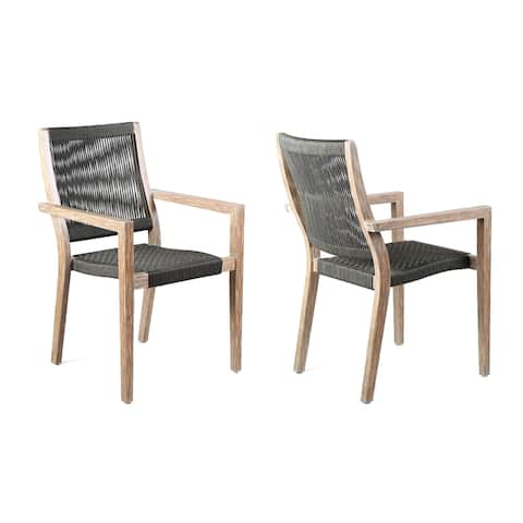 Madsen Outdoor Patio Rope Dining Chair - Set of 2