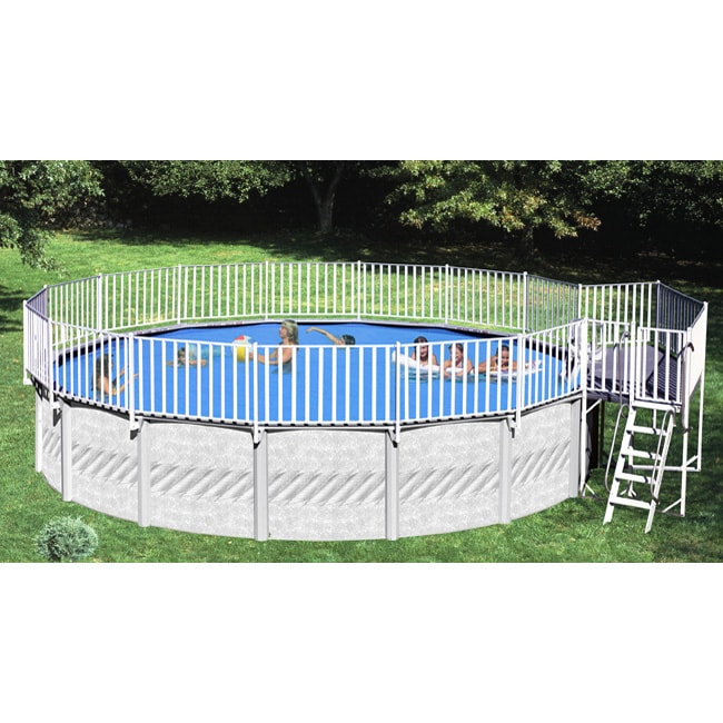 Free Standing Above Ground Swimming Pools: Shop 2-piece Free-standing Aboveground Pool Deck