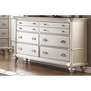 Antique Silver Dresser With 8 Drawer