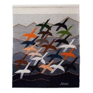 Handmade 'Flying High' Wool Tapestry (Peru)