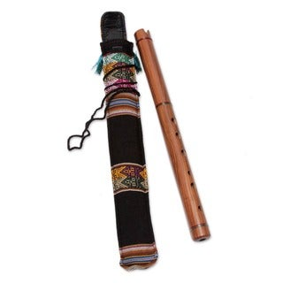 Jacaranda Wood Handmade Artisan Handcrafted Natural Brown Cultural Music Inca Traditional Musical In