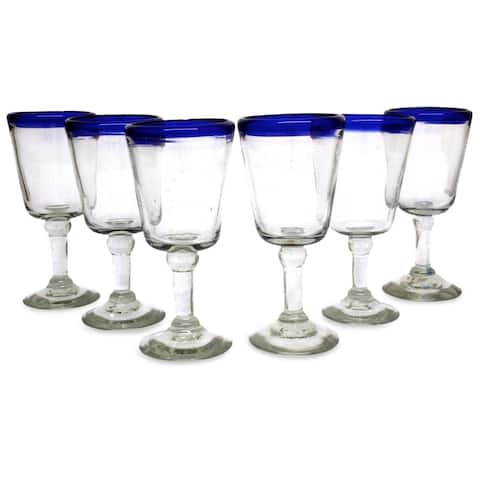 Handmade Chardonnay Tableware Wine Glasses, Set of 6 (Mexico)