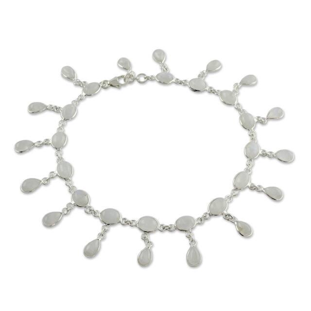 Moon Dancer  Sterling Silver Womens Ankle Bracelet