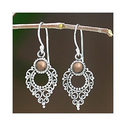 Joy Style Handmade Artisan Designer Balinese Fashion Clothing Accessory Sterling Silver Gold Plated Jewelry Earrings (Indonesia)