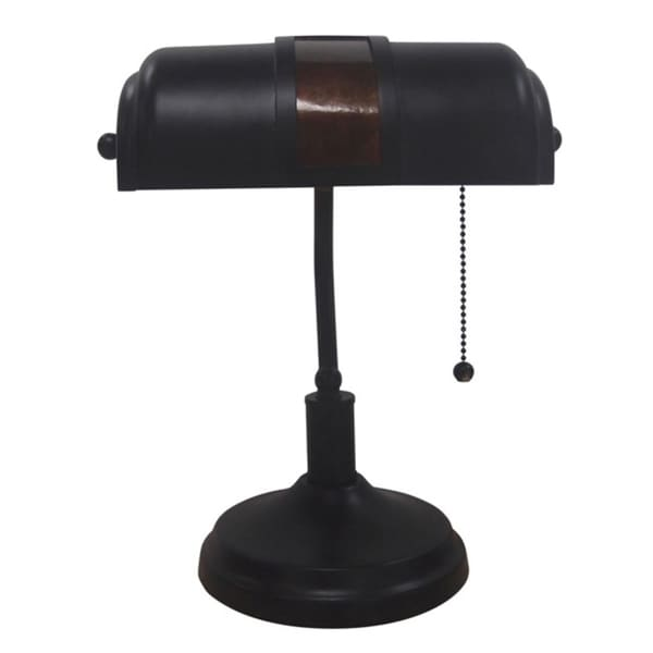 Adesso Oil-rubbed Bronze Bankers Table Lamp. Opens flyout.