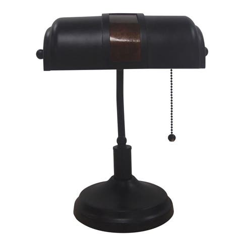 Adesso Oil-rubbed Bronze Bankers Table Lamp