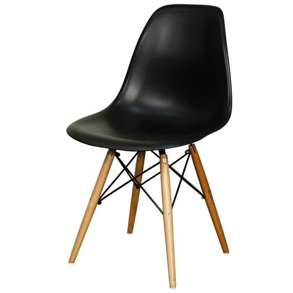 Mid-Century Modern Eiffel Style Kids Chair with Wood Legs (Set of 4)