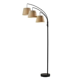 Link to Adesso Antique Bronze 3-Arm Arc Floor Lamp Similar Items in Floor Lamps