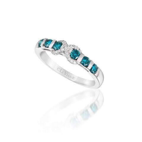 Encore by Le Vian 14K White Gold 1/2 ct Blue Diamonds & 1/15 ct Of Vanilla Diamonds Ring