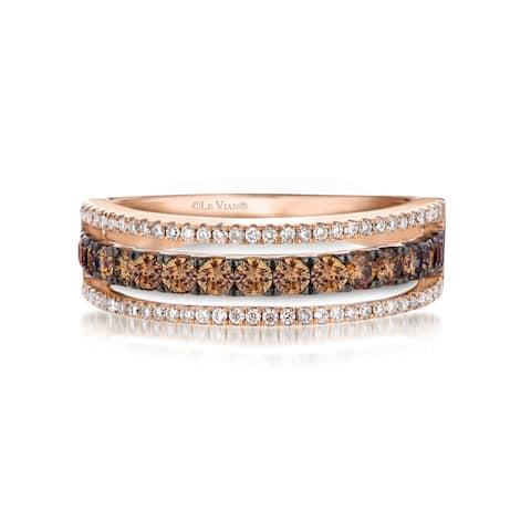 Encore by Le Vian 14K Rose Gold 1/2 ct Chocolate Diamonds & 1/5 ct Vanilla Diamonds Ring