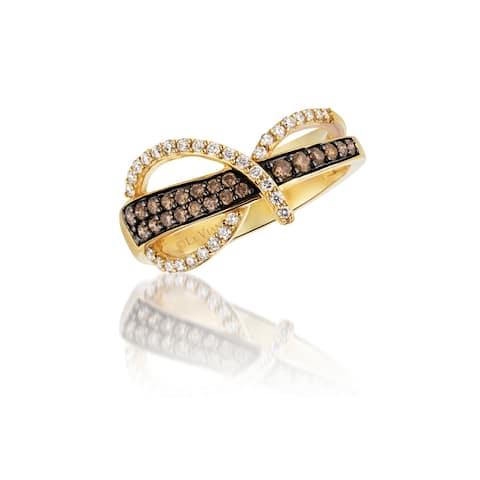 Encore by Le Vian14K Yellow Gold 1/4 ct of Chocolate Diamonds & 1/5 ct of Vanilla Diamonds Ring