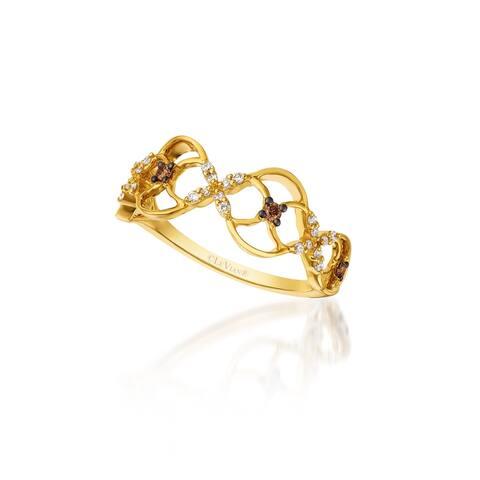 Encore by Le Vian 14K Yellow Gold 1/15 ct Chocolate Diamonds and 1/10 ct Vanilla Diamonds Ring