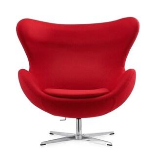 Mid-century Modern Egg Ball Swivel Chair RED,GREY