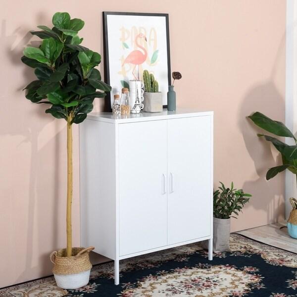 Furniture R 2-door Floor Cabinet Bathroom Storage Organizer