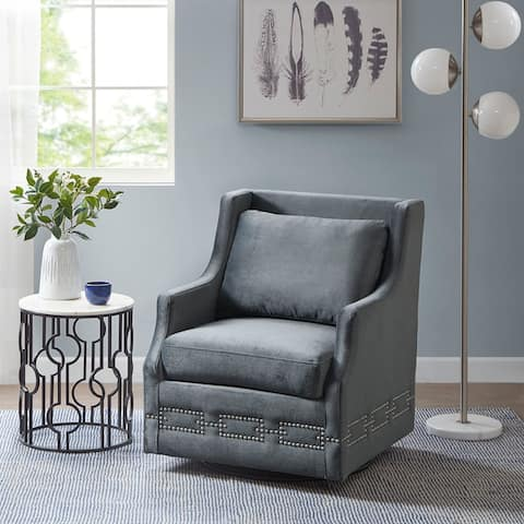 Madison Park Clarinada Charcoal Swivel Glider Chair