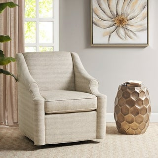 Link to Madison Park Benton Tan Swivel Glider Chair Similar Items in Gliders