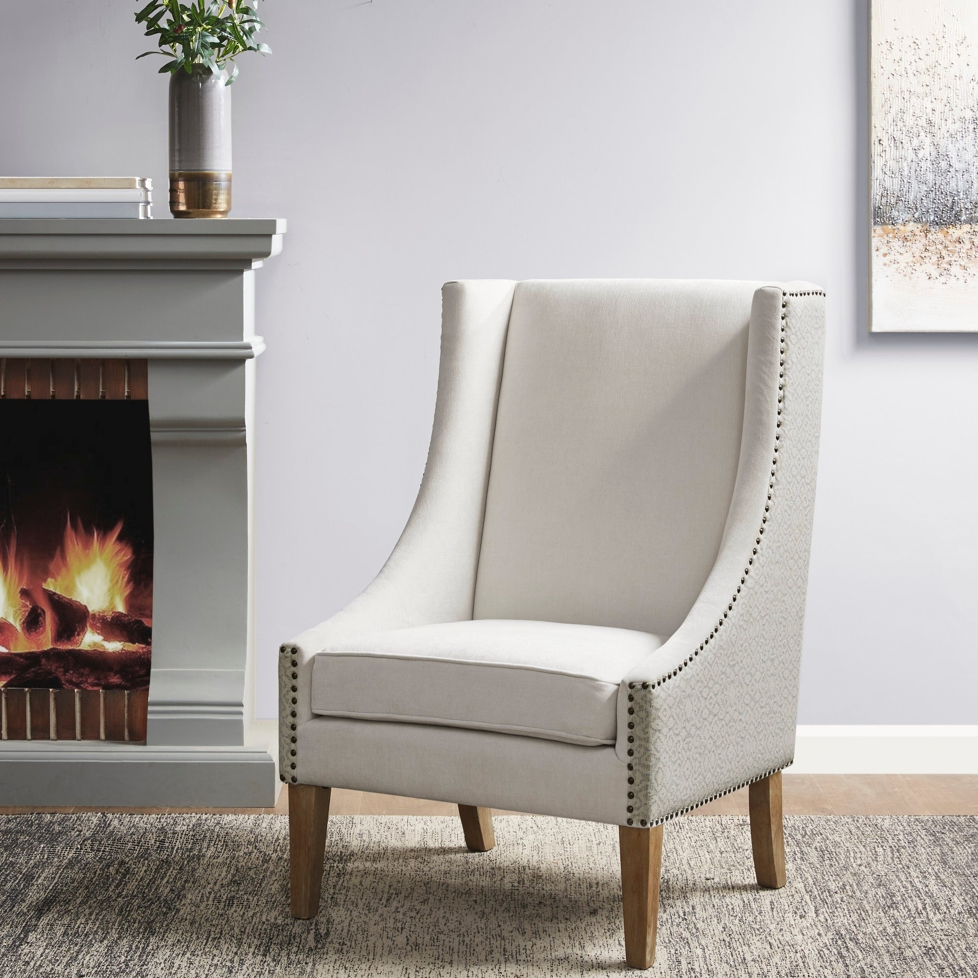 Shop Black Friday Deals On Madison Park Duncan Ivory Accent Chair Overstock 30677640