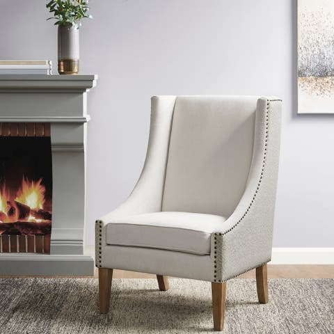 Madison Park Duncan Ivory Accent Chair