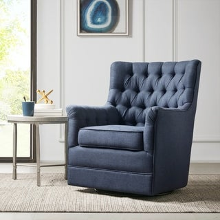 Link to Madison Park Rae Blue Swivel Glider Chair Similar Items in Gliders