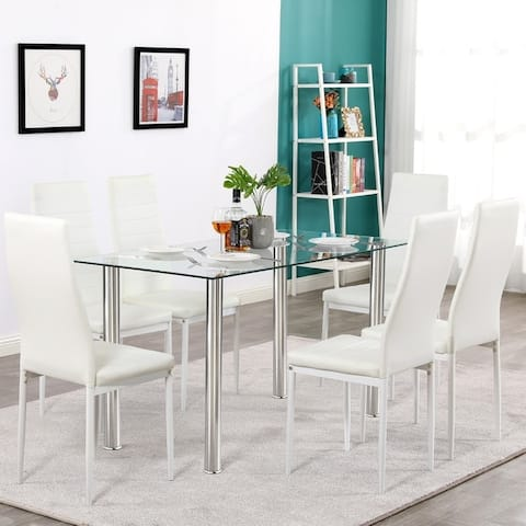 Silver Orchid Millner 7-piece Dining Set