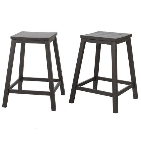 Kajume 25-inch Counter Height Saddle Bar Stools (Set of 2) by Havenside Home