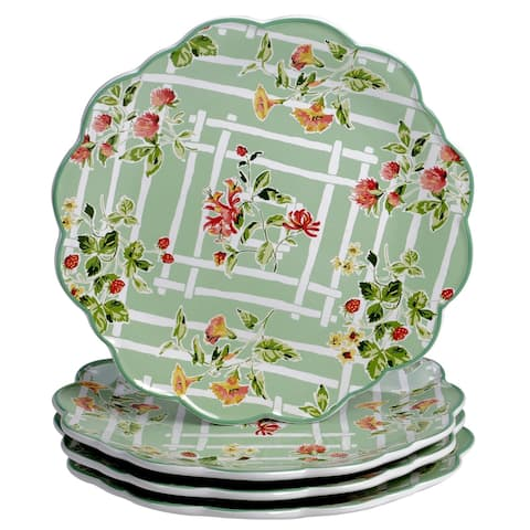 Certified International English Garden Dinner Plates (Set of 4)