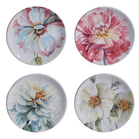 Certified International Spring Bouquet Salad/Dessert Plates (Set of 4)