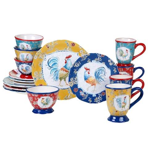 Certified International Morning Bloom 16-piece Dinnerware Set (Service for 4)