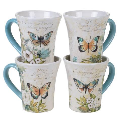 Certified International Nature Garden 12 oz. Mugs (Set of 4)