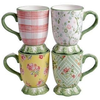 Link to Certified International English Garden 16 oz. Pedestal Mugs (Set of 4) Similar Items in Dinnerware