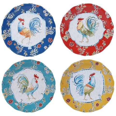 Certified International Morning Bloom 11-inch Dinner Plates (Set of 4)