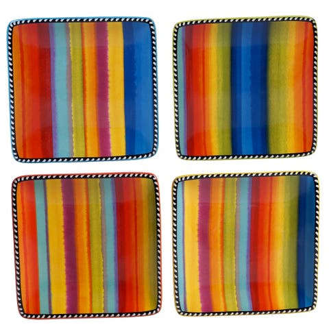 Certified International Sierra Canapé/Snack Plates (Set of 4)