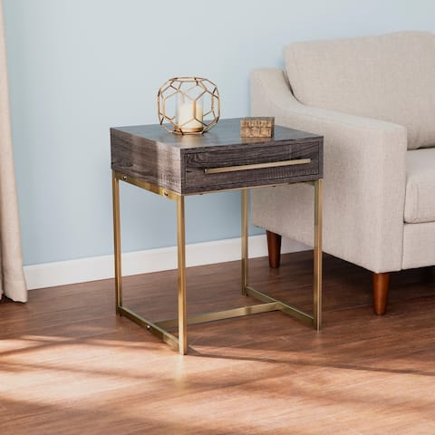 Carbon Loft Akela Transitional Square End Table with Storage