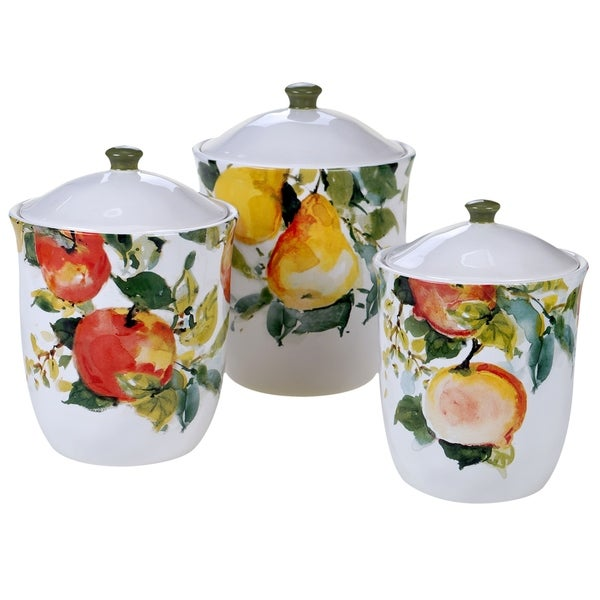 Certified International Ambrosia 3-piece Canister Set