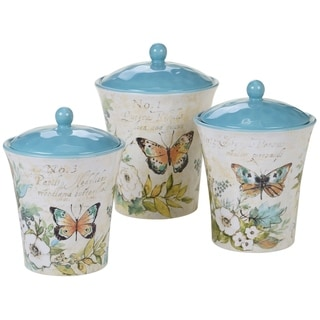 Link to Certified International Nature Garden 3-piece Canister Set Similar Items in Kitchen Storage